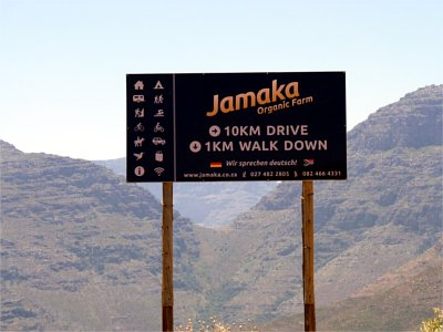 Jamaka signage on Nieuwoudt's Pass